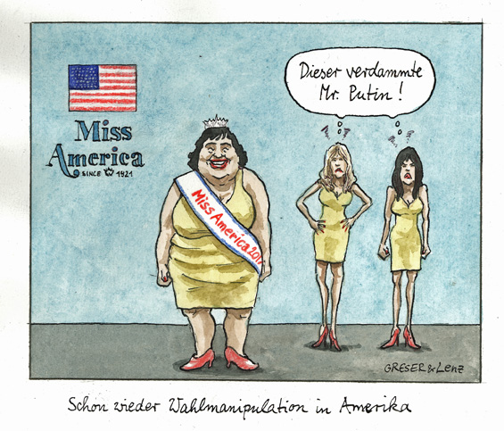 Miss America Wahl manipuliert