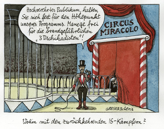 IS-Kämpfer im Zirkus