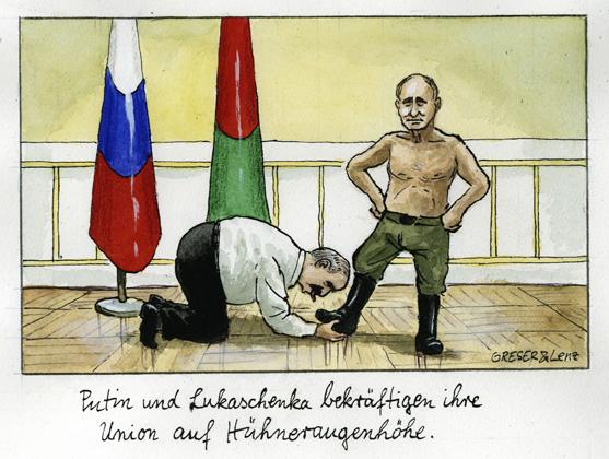 Lukaschenka und Pution